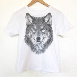 Wolf graphic tee t-shirt women's S, girls xL